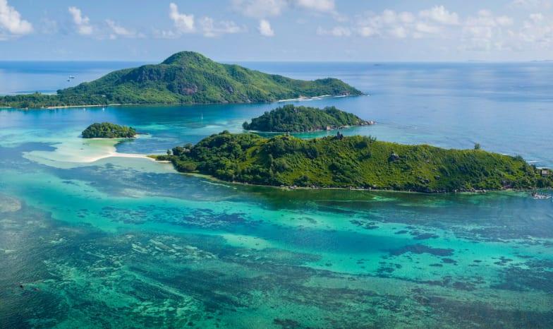 Seychellen.Mahé von oben