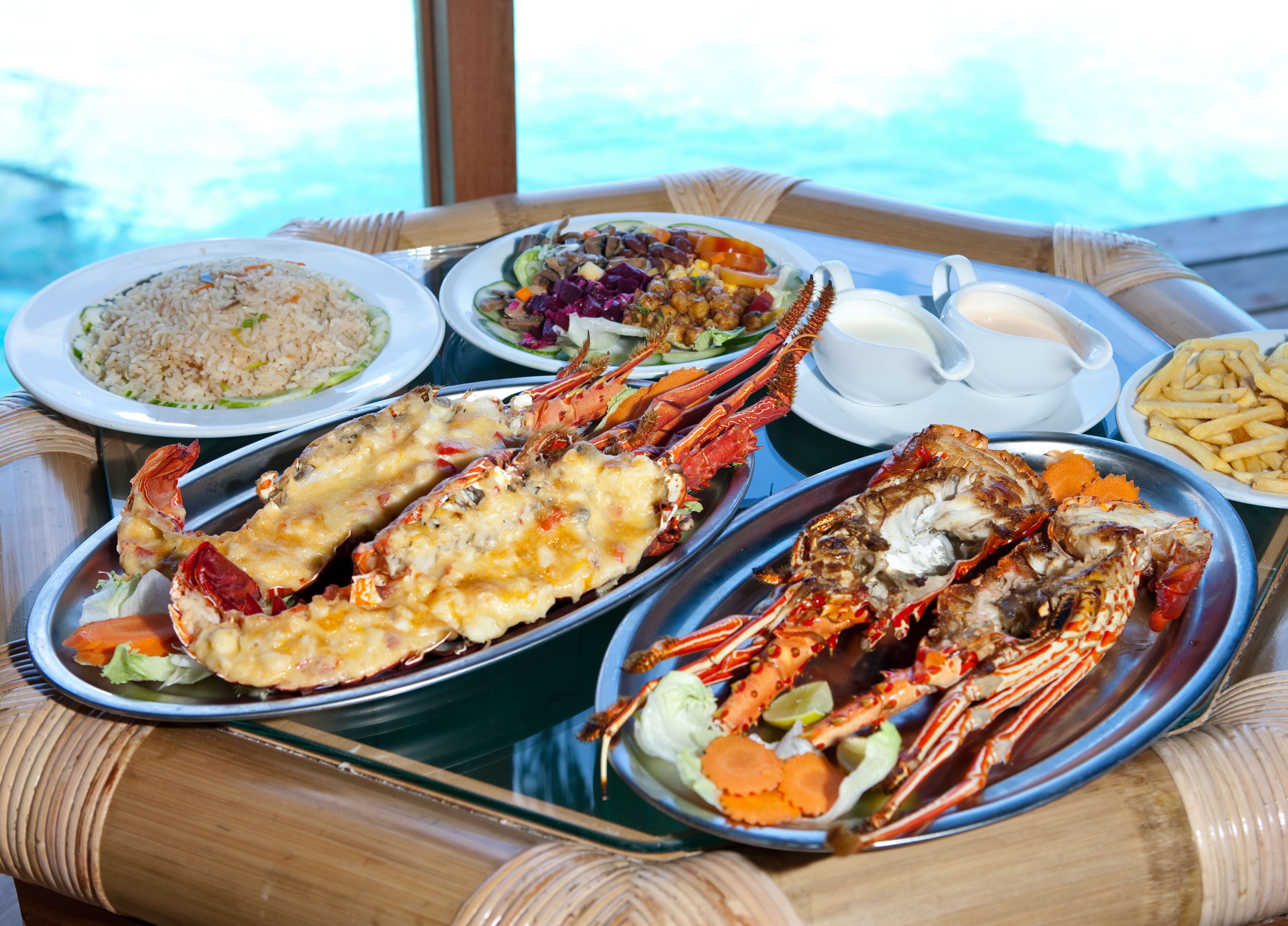 Essen auf den Malediven