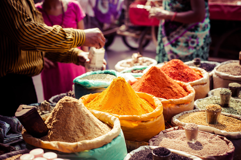 Muscat Gewürzverkäufer Markt