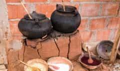 Tongefäße in Peru