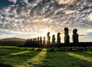 CHL.RapaNui.Moai Statuen