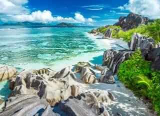 Seychellen.Strände.Felsen