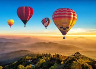 Heißluftballons Nationalpark Thailand