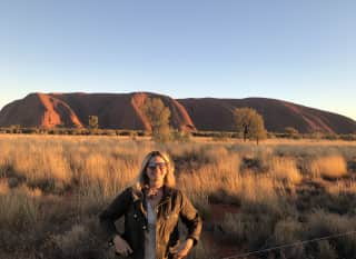 Laura am Ayers Rock