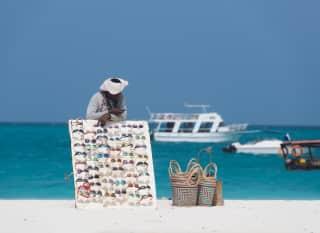 Strandverkäufer in Sansibar