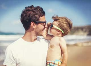 Vater mit Kind im Urlabu