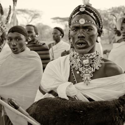 Samburu Warrior auf Hochzeit in Kenia