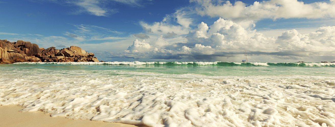 SC.La Digue Ein Strand auf La Digue