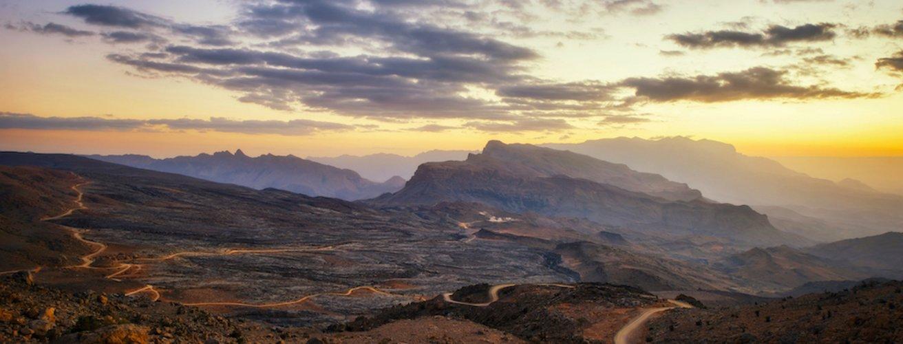 OM.Jebel Akhdar.Tal bei Sonnenuntergang Kopie Jebel Akhdar bei Sonnenuntergang