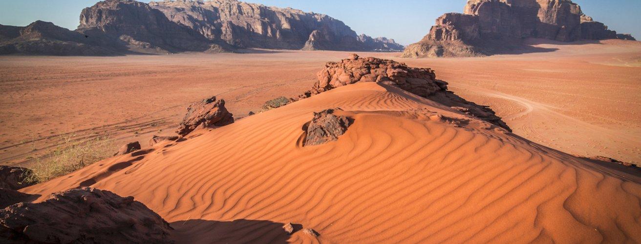 JO.Wadi Rum Roter Sand im Wadi Rum