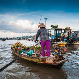 Schwimmende Dörfer im Mekong