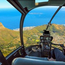 Helikopterflug über die Kapregion