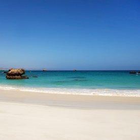 Baden an den Puderzuckerstränden des Arabischen Meeres