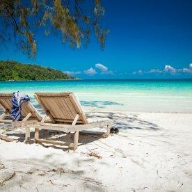Auf tropischen Trauminseln relaxen