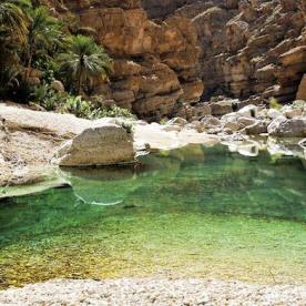 Oasenfeeling: Erfrischung in smaragdgrünen Wadis