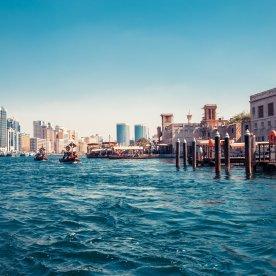 Ausblick auf das rege Treiben der Dubai Creek