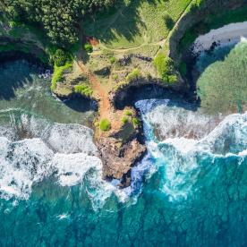 Naturgewalt: Wilde Wellen am südlichsten Punkt