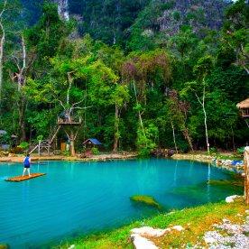 Baden in der Blauen Lagune
