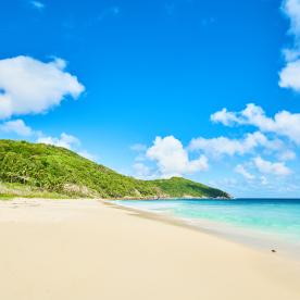 Südlichster Punkt: Am wildesten Strand Mahés baden