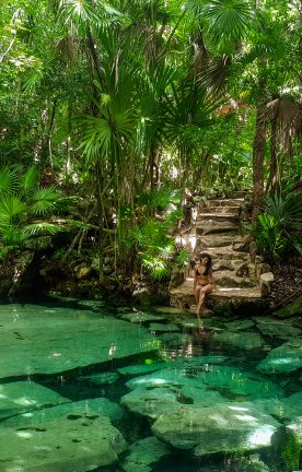 MX.Tulum.Swimming Hole with Jungle Swimming Hole with Jungle