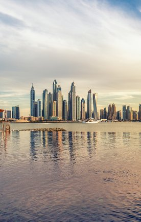 UAE.Dubai Skyline von Dubai