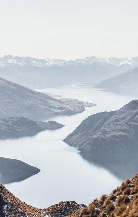 NZ.Wanaka Wandern in den Bergen Wanakas in Neuseeland