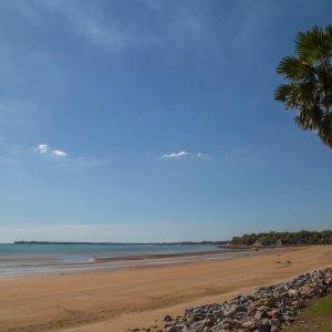 AU.Darwin_Mindil_Beach Der Blick auf den leeren Mindil Beach.