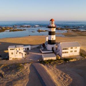 ZA.Port_Elizabeth_Cape_Recife_Lighthouse Leuchtturm an am Strand