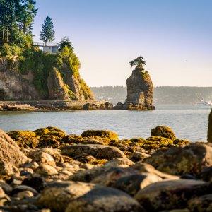 Kanada Vancouver Stanley Park Seawall Siwash Rock