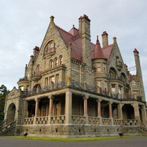"""CA.Victoria.Castle Das historische Gebäude des """"Craigdarroch Castle"""" in Victoria, Kanada"""