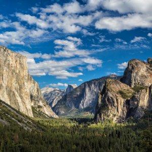 US.AR.Yosemite Nationalparl Valley Blick auf das Tal des Yosemite Nationalparks