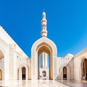 OM.Sultan Qaboos Grand Moschee 1 Außenansicht der Sultan Qaboos Grand Moschee