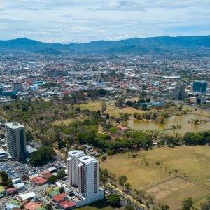 CR.San_Jose_Sabana_Park Der Blick von oben auf den Stadtpark von San Jose.