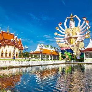 TH.AR.Ko Samui Wat Plai Laem Blick auf den berühmten Wat Plai Laem Tempel auf Ko Samui