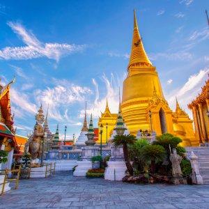 "TH.Grand_Palace Der antike Tempel ""Wat Phra Kaeo"" auf dem Grand Palace Gelände in Bangkok"