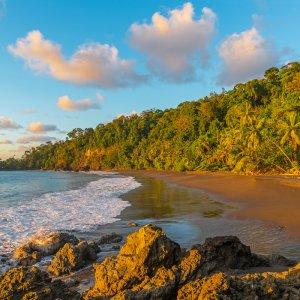 CR.Nationalpark Corcovado Strand Strandabschnitt des Corcovado Nationalparks