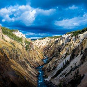US.AR.Yellowstone Nationalpark Fluss Der Yellowstone Fluss