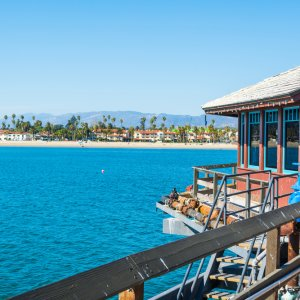 US.AR.Santa Barbara Küste Blick auf die Küste Santa Barbaras