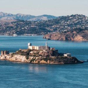 """US.Alcatraz Die Gefägnisinsel """"Alcatraz"""" vor der Küste San Francisco, Kalifornien"""