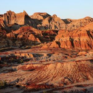 CA.Badlands Badlands Canyons, Hoodoos, Canadian Badlands, Kanadische Badlands, Dinosaur Provincial Park
