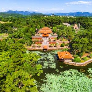 VN.Hue.Zitadelle 3 Ansicht der Parkanlage der Zitadelle von Hue von oben.