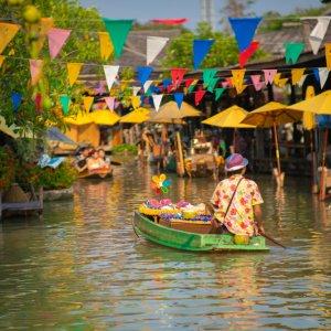 TH.AR.Pattaya Schwimmender Markt Der schwimmende Markt in Pattaya