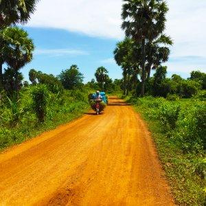 KH.Kampong Cham Landschaft Touristen sind in der Provinzregion von Kampong Cham eher selten anzutreffen.