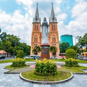 VN.Saigon_Kathedrale_Notre-Dame Der Blick auf die die Notre-Dame Kirche Vietnams.