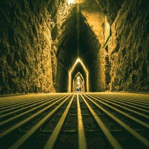 MX.Pyramide_von_Cholula_Tunnel Der Tunnel unterhalb der Pyramide von Cholulu