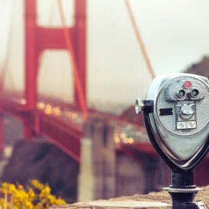 US.AR.San Francisco Bridge 2 Blick auf die Golden Gate Bridge