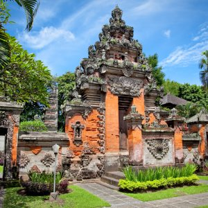 Bali.Sanur.Museum Balinesische Architektur im grünen Dschungel