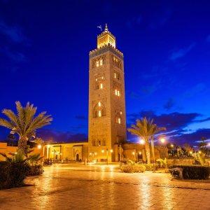 MA.POI.Koutoubia-Moschee 3 Koutoubia Moschee bei Nacht