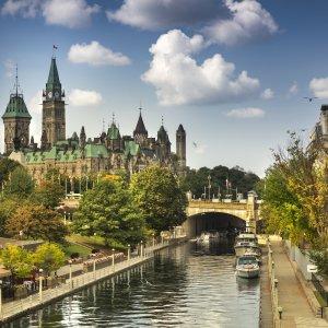 CA.Ottawa Der Rideau-Kanal in Ottawa, Kanada