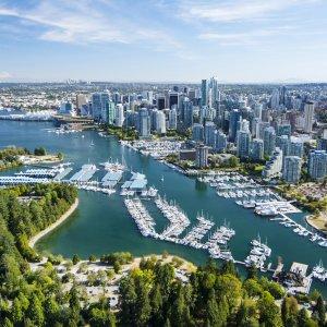CA.Vancouver Luftaufnahme der Stadt Vancouver in Kanada